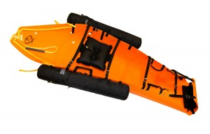 Sked Stretcher with rapid deployment water rescue system